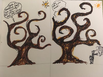 Start of a story about a tree.
